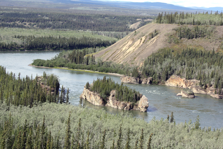 Five Fingers rock formation on the Yukon River