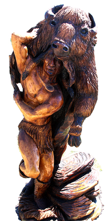 A Buffalo Fighter -- Chainsaw Artwork in Chetwin