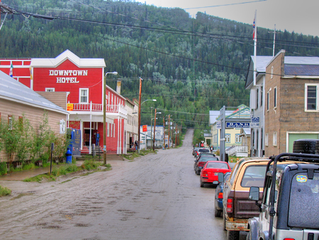 Front Street, Dawson City, Hasn't Changed Much from the Early Days