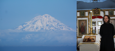 En route to Homer: Mt. Redoubt in Lake Clark National Park & Deacon Andre in Ninilchik