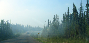 Avalanches and Washouts Behind Us; Bears and Moose Crossing in Front of Us; Construction and Frost Heaves Under Us … What else could we contend with? Oh, yes, a forest fire.