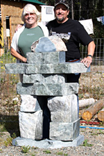 We found an Inukshuk just our size -- but we couldn't lift it to load it into the travel trailer