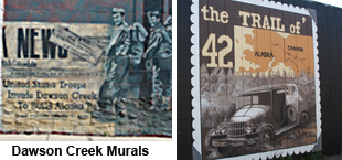 Murals throughout Downtown Show the Town's History