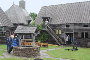 Members of the group stroll through history at Port-Royal