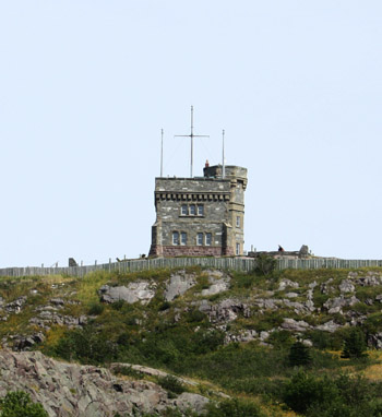 The stately Cabot Tower reigns over the town as did Queen Victoria year's earlier.