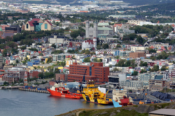 Just looking at over the center of St. John's, Newfoundland, brings a sense of excitement. It's a beautiful city with lots to do and learn.
