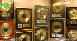 A few of Anne Murray's Platinum Records - Quite a collection