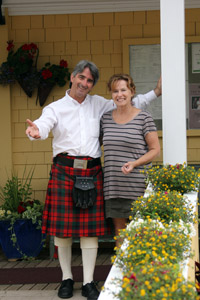 Bruce & Shirley MacNaughton Welcome Diners at P.E.I. Preserves