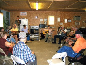 "Music all around in a Mountain View, Ark., ""pickin' shed"""