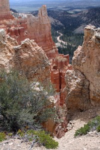 Spectacular scenery at Bryce Canyon