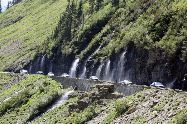 1.Glacier National Park's Weeping Wall greets motorists on the Road to the Sun – but park your RV and take your tow on this narrow, steep drive.