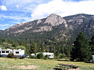 What could be more peaceful than parking your rig at Aspenglen Campground in Rocky Mountain National Park. This was on the last day the campground was open before autumn closure, which sent us to Moraine Campground, another spectacular site.